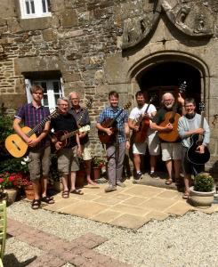group at front door